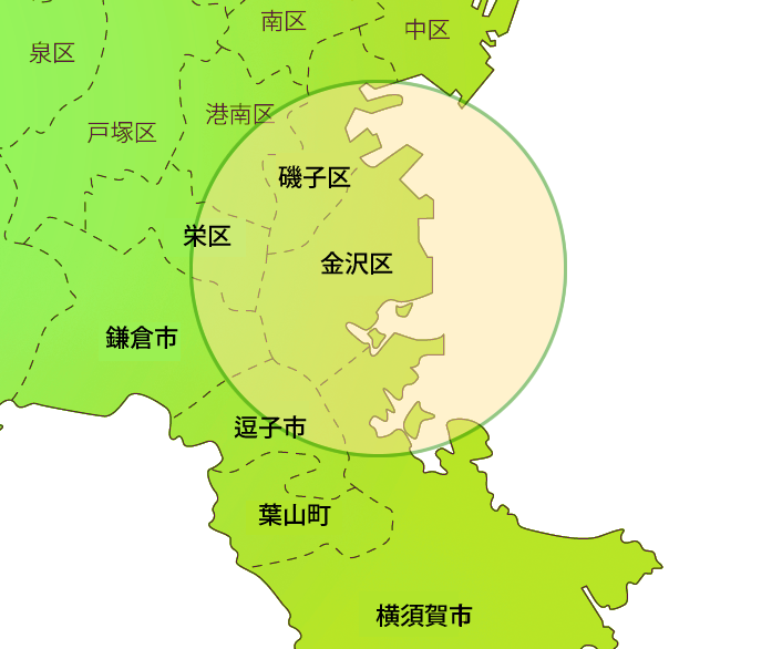 無料配送エリア MAP